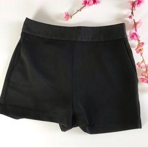 Express casual elegant black shorts hidden zipper